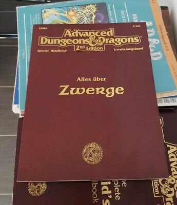 AD&D 2nd Edition ALLES ÜBER ZWERGE TSR Advanced Dungeons & Dragons neuwertig