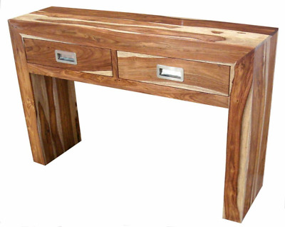 Indian Natural 2 Tone Sheesham Wood Console Table