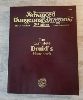 The Complete DRUID's Handbook  2nd Edition AD&D TSR Advanced Dungeons & Dragons