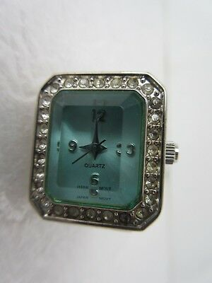 Vintage Finger Ring Watch Quartz Japan Movement Does not work