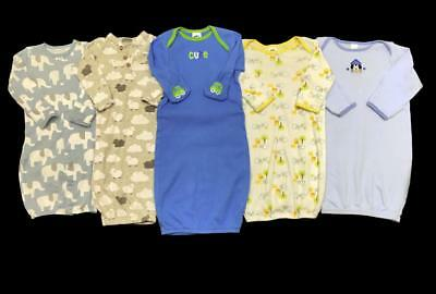 BABY BOY 0-6 months OS One Size cotton sack Gowns SLEEPER PAJAMAS Clothes Lot