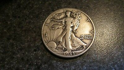 1943'D WALKING LIBERTY SILVER HALF DOLLAR in VERY NICE  condition. NICE DATE