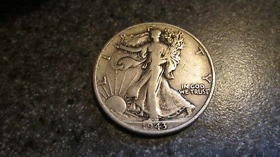 1943 P WALKING LIBERTY SILVER HALF DOLLAR in VERY FINE  condition. NICE DATE