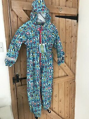 BNWT Frugi Puddle Buster Rainsuit Bees & Flowers 5-6y