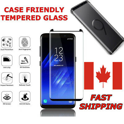 Case Friendly Curved Full Tempered Glass For Samsung Galaxy S and Note Series