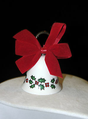 Vintage Maurice Duchin Fine Bone China Christmas Bell - England