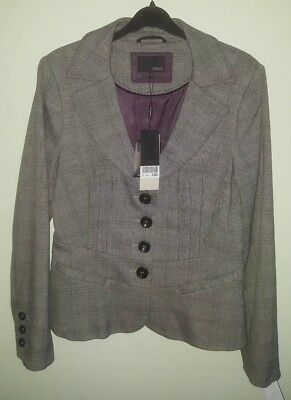 NEXT check suit - skirt (size 10) & jacket (size 12) - brand new