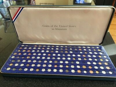1980 Franklin Mint Coins Of The United States In Miniature Incomplete Set