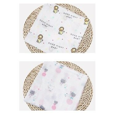 2 pcs Newborn Baby Blanket Bedding Blanket Wrap Swaddle Blanket Bath Towel