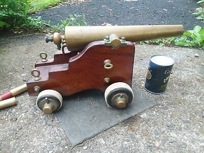 YACHT SIGNAL CANNON antique by L T Snow Strong Cannon