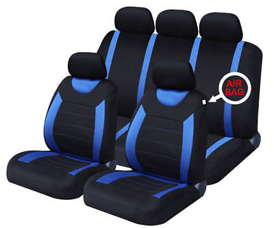Black Blue Luxury Car Seat Covers Full Set For ROVER 75 SALOON 04-05