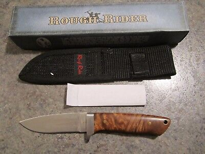 "ROUGH RIDER RR176 8 1/4"" fixed blade drop point KNIFE NIB with Nylon sheath"