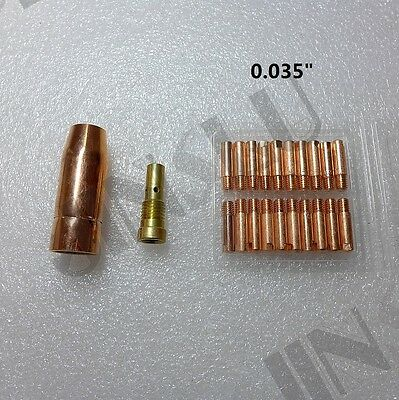 "0.035"" Contact Tip kit for Lincoln Electric OEM Replacement Gun 11205"