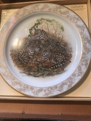 Lenox Natures Nursery Emperor Bengal Tigers Limited Edition Plate Lynn Chase