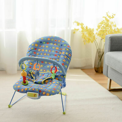 Adjustable Baby Bouncer Swing Rocker Reclining Chair W/ Soothing Music Box Toys