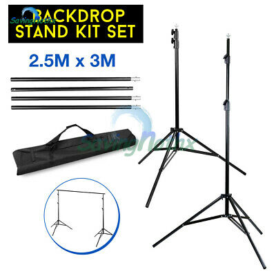2.5x3M Video Studio Backdrop Photography Background Support Stand Frame KIT+BAG