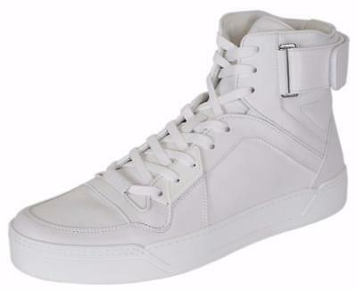 5c3d6544616 Gucci Men s High-Top White Leather Basketball Sneaker Shoes NWB  840  Authentic