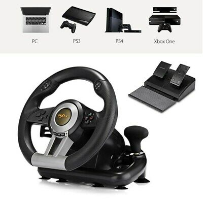 Vibration Racing Computer Game Steering Wheel Brake Pedal for PC PS3 PS4 Xbox A