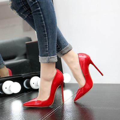 Women's Sexy Pointed Toe Wedding Party Shoes Patent Leather High Heel Stilettos