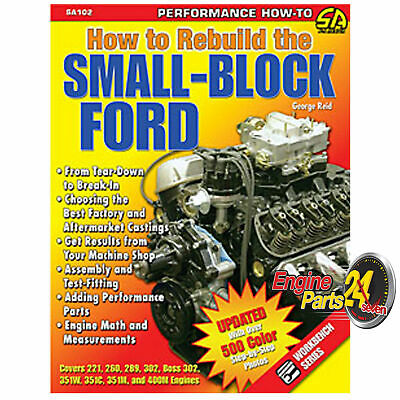 Ford 289 302 351 Cleveland Windsor Book How To Rebuild The Small Block Ford