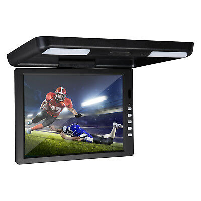 """Black 13.3"""" LCD TFT Car/SUV/TRUCK Flip Down Roof Mount Monitor Overhead Ceiling"""