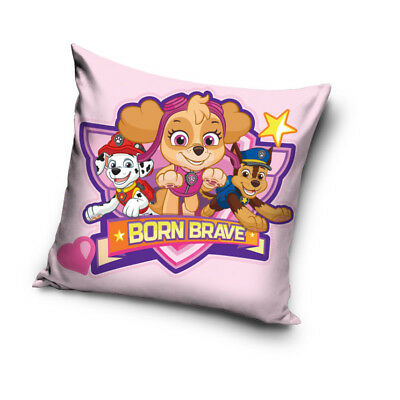 PAW PATROL Chase Skye Marshall Born Brave pups cushion cover 40x40cm pillow case