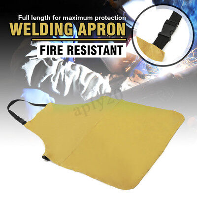 24'' X 39'' Welding Apron Heat Insulation Cow Leather Cowhide Welder Protection