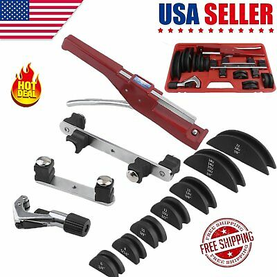 HVAC Refrigeration Ratchet Tube Bender cutter Copper Pipe Tool W/ Carry Box EXC
