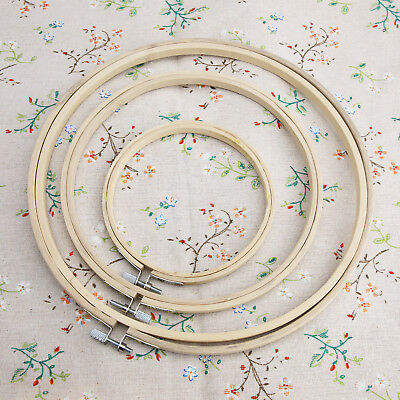 12-25cm 5/8/10'' Wooden Cross Stitch Embroidery Hoop Ring Bamboo Sewing EH