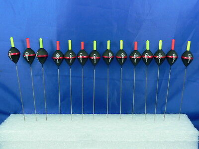 14 fishing floats 1gr wired loop with auction steel 0,5mm, fishing starlight 3mm