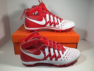 Nike Huarache V LAX Lacrosse Football Cleats Red/White 807142 611 Men's 11