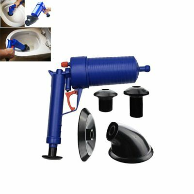 Air Power Drain Blaster gun High Pressure Powerful Manual sink Plunger Open V4K2