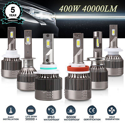 H1/ H4/ H7/ H11/9005/9012 400W CREE LED Lamp Headlight Kit  Hi/Lo Beam DECODER