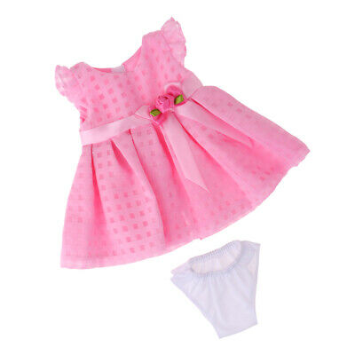 Doll Clothes Outfit Set Dress Skirt Underpants for 18''Ameircan Girl Dolls