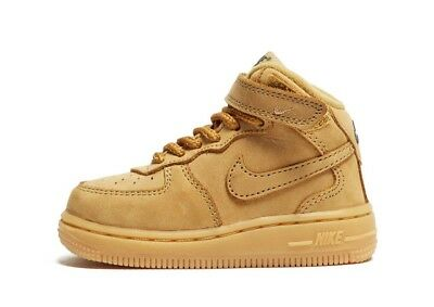9e980d49da43 NIKE AIR FORCE 1 Infants Childrens Trainers In White Leather ...