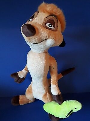 Timon Soft Toy Disney Store Stamped Plush with Caterpillar from The Lion King