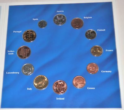 Lot of 12 Foreign National Coins, Euro-Zone Countries Collection, #3416