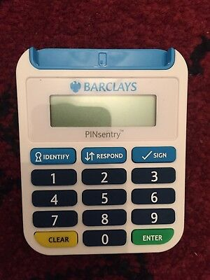 Barclays PINsentry Pin Sentry Security Online Banking Reader Card Bank Chip