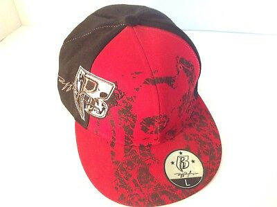 RUFF RYDERS ENTERTAINMENT Record Label Red Black Hat Cap Size Large