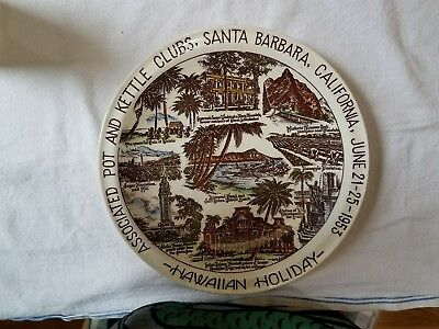 Associated Pot and Kettle Clubs of America Santa Barbara Vernon Kilns Plate
