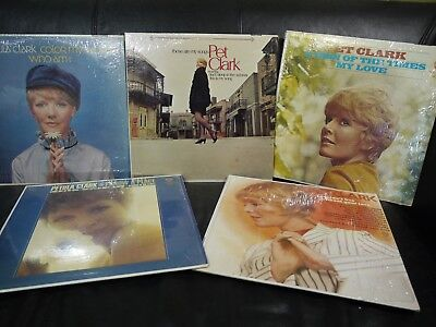 Lot of 5 1960s Petula Clark Vinyl LPs All in Shrink! VG+ and Better!