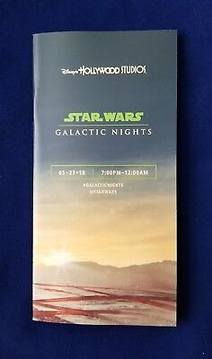 Disney Hollywood Studios Star Wars Galactic Nights Event Guide Map 5/27 2018