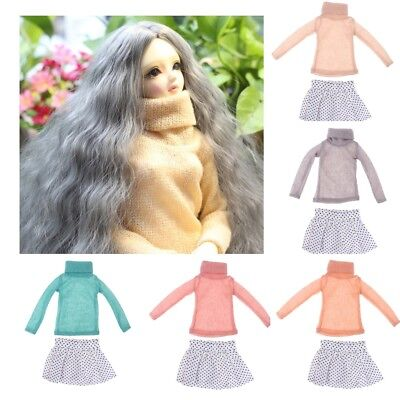 Popular Doll Clothing Set Turtleneck Sweater Pettiskirt for1/3 BJD Doll