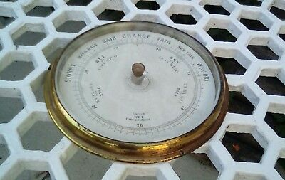 Antique barometer glass face