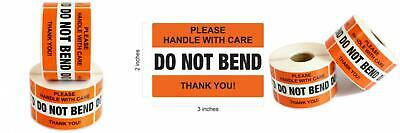 """DO NOT BEND Please Handle With Care Label Stickers 2"""" x 3"""" 1000 Labels [2..."""