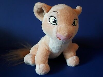 """Nala Soft Toy Lion Cub from The Lion King Disney Store 7"""" Plush Comforter Toy"""