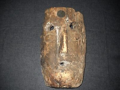 """1890 Carved Wood Face Mask 10"""", from Spain"""