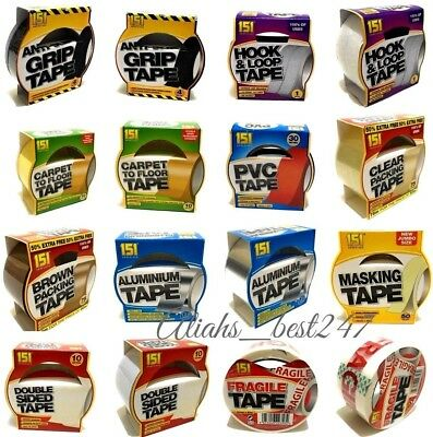 Multi-Use Adhesive Tape Carpet Aluminium Gripper Packing Sticky Fix and More.