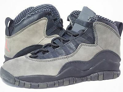 huge discount f8d76 3a68c ... wholesale 1995 og nike air jordan x 10 shadow grey black vintage og red  5.5y