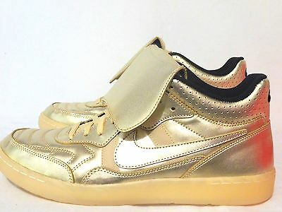 new products a368d d25db New! Nike Men s Tiempo  94 Mid Hp Qs Gold Leather Athletic Sneaker Shoes 9.5